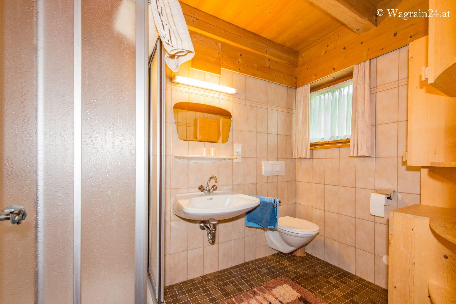 Badezimmer 20 im Blockhaus Schönlehen Blockhaus u. Appartements